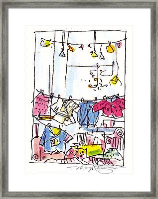 Shop Window Paris Framed Print