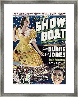 Show Boat, Irene Dunne, Allan Jones Framed Print by Everett