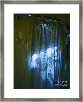 Shower Shadows Framed Print by Beebe  Barksdale-Bruner