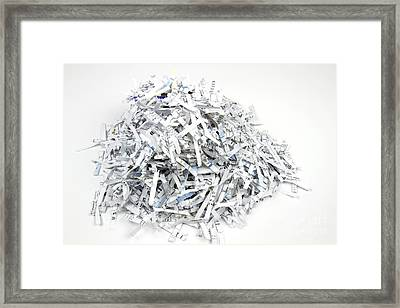 Shredded Paper Framed Print