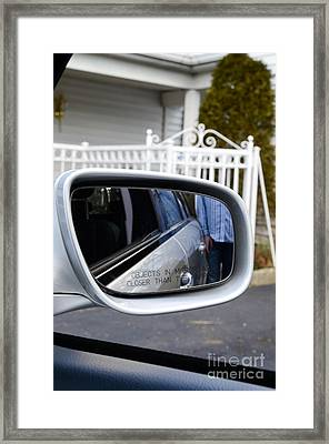Side View Mirror Framed Print by Photo Researchers