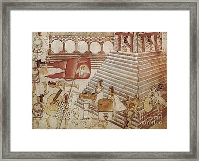 Siege Of Tenochtitlan 1521 Framed Print by Photo Researchers
