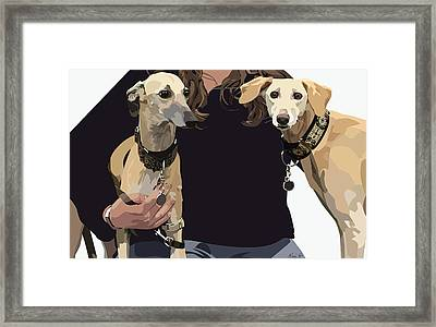 Sighthounds II Framed Print by Kris Hackleman