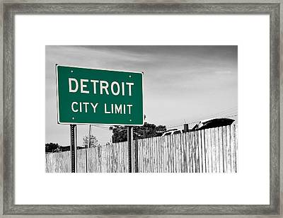 Sign Of The Times Framed Print by James Marvin Phelps