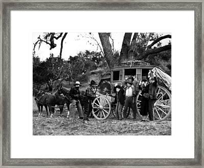 Silent Film Still: Hold Up Framed Print by Granger