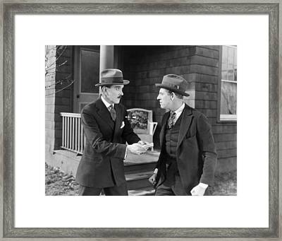 Silent Still: Bribery Framed Print by Granger