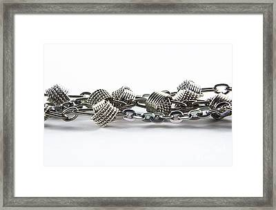 Silver Jewel Chain Framed Print