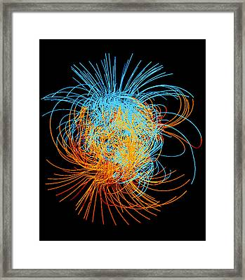 Simulation Of A Magnetic Field Reversal On Earth Framed Print