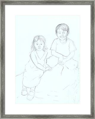 Framed Print featuring the drawing Singapore Babes by Nareeta Martin