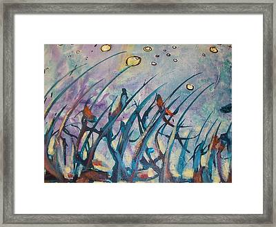 Singing Crickets Framed Print