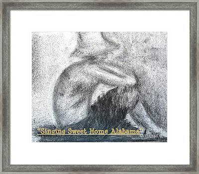 Singing Sweet Home Alabama Framed Print by Helena Bebirian