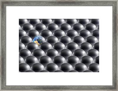 Single Earth, Conceptual Artwork Framed Print