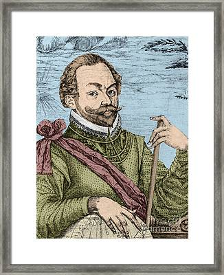 Sir Francis Drake, English Explorer Framed Print by Photo Researchers, Inc.