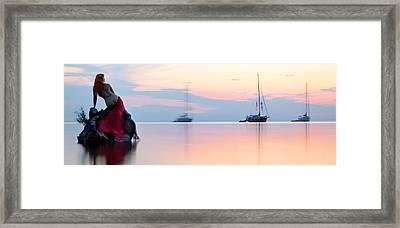 Siren's Dawn Framed Print by Dario Infini