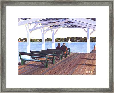 Sitting By The River Framed Print