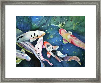 Six Koi Framed Print