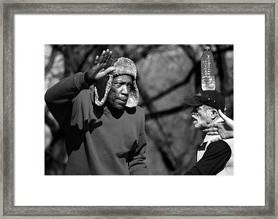 Skaters In Central Park Framed Print by RicardMN Photography