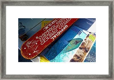 Skee Skate Framed Print by Ron Regalado