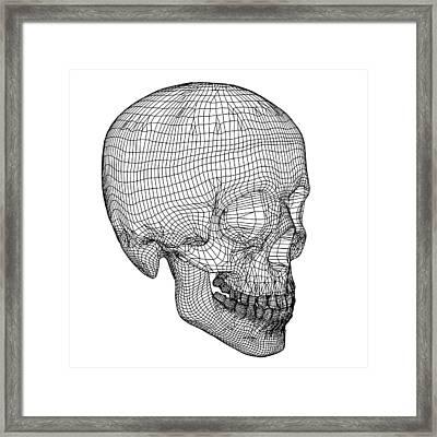 Skull, Computer Artwork Framed Print by Pasieka