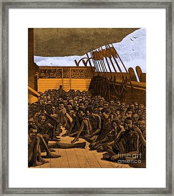 Slave Ship Framed Print by Photo Researchers