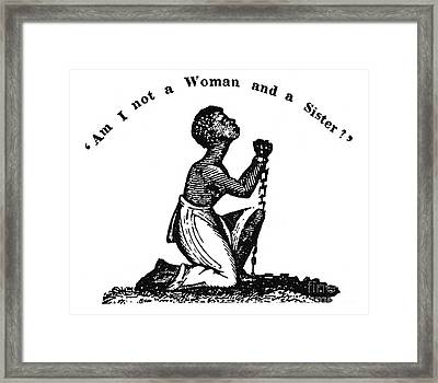 Slavery: Woman, 1832 Framed Print