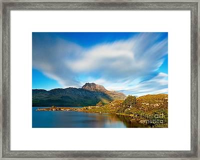 Slioch Across The Waters Of Loch Maree Framed Print