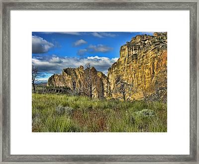 Smith Rock Framed Print by Bonnie Bruno