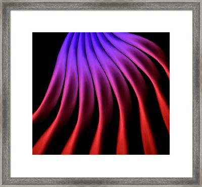 Smoke Ribbons Framed Print by Laurie Douglas