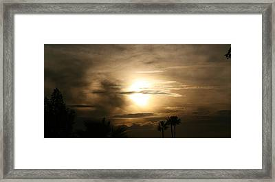Smokey Dusk Framed Print