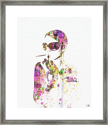 Smoking In The Sun Framed Print by Naxart Studio