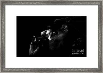 Smoking Man Framed Print
