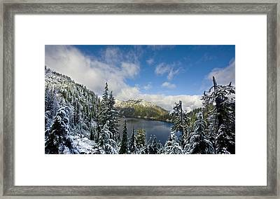 Snow Lake Vista Framed Print