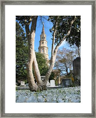 Framed Print featuring the photograph Snow Southern Style by Lyn Calahorrano