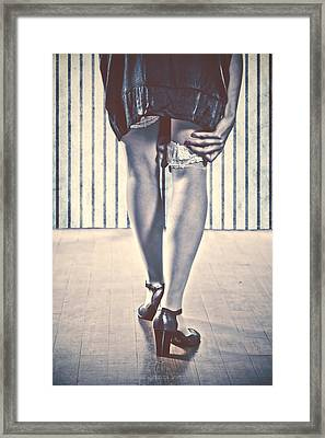 Sockings Framed Print by Joana Kruse