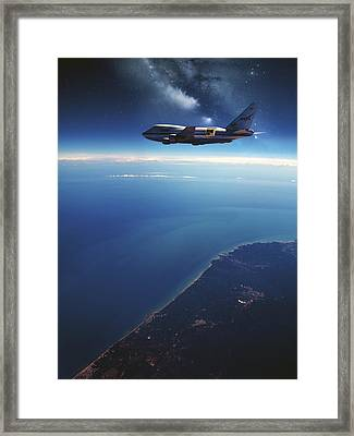 Sofia Airborne Observatory In Flight Framed Print