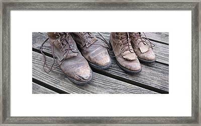 'sole' Mates Framed Print by Elizabeth Sullivan