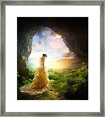 Solitary View Framed Print by Mary Hood