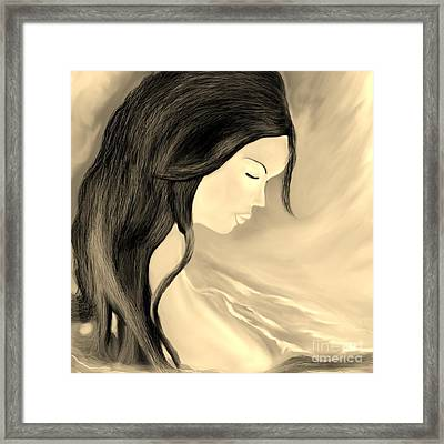 Framed Print featuring the drawing Solitude  by Lori  Lovetere