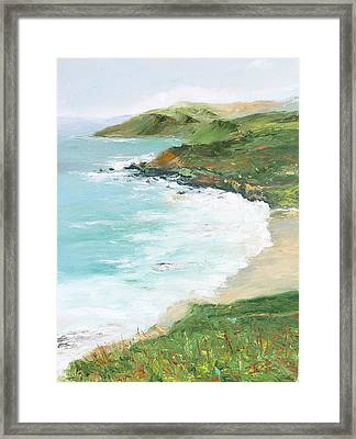 Somewhere On Big Sur Framed Print by Max Mckenzie