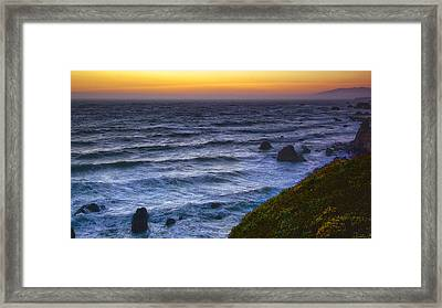 Sonoma Coast Sunset Framed Print