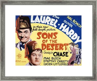 Sons Of The Desert, Stan Laurel, Oliver Framed Print by Everett