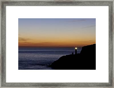 South Stack Lighthouse Framed Print by Gary Finnigan