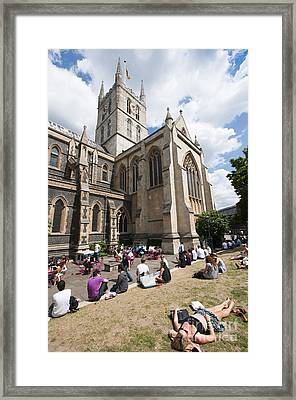 Southwark Cathedral Framed Print by Andrew  Michael