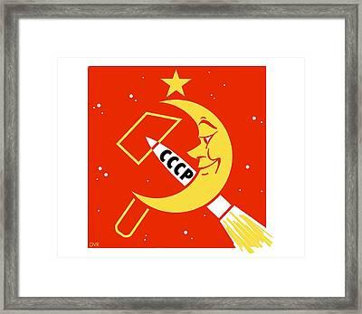 Soviet Moon Exploration, Artwork Framed Print by Detlev Van Ravenswaay