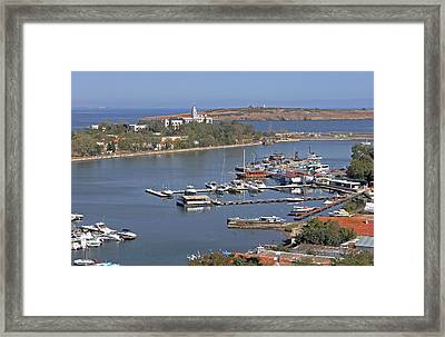 Sozopol Harbour Framed Print by Tony Murtagh