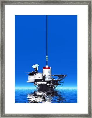 Space Elevator Station, Artwork Framed Print