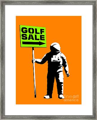 Space Golf Sale Framed Print