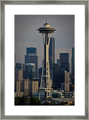 Space Needle Framed Print by Warren Marshall