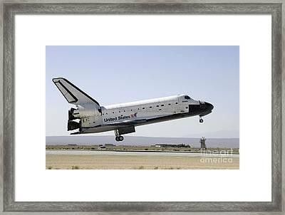 Space Shuttle Atlantis Prepares Framed Print by Stocktrek Images