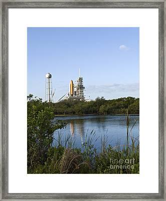 Space Shuttle Atlantis Sits Ready Framed Print by Stocktrek Images